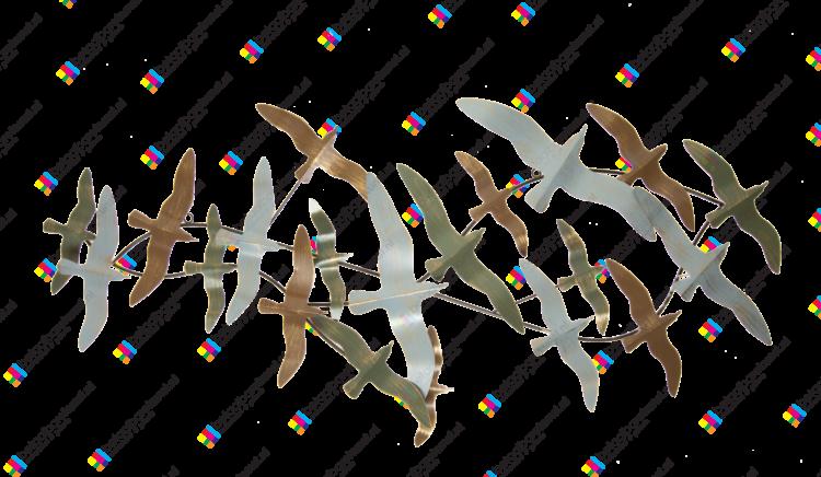 """Metalen wanddecoratie """"Birds flying high"""""""