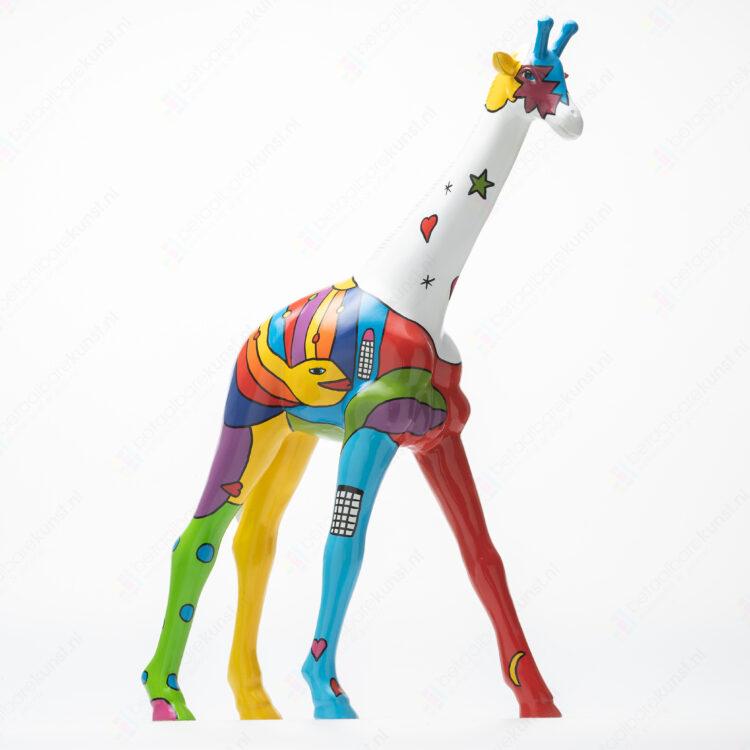 """Beeld """"Kleurrijke giraffe"""""""