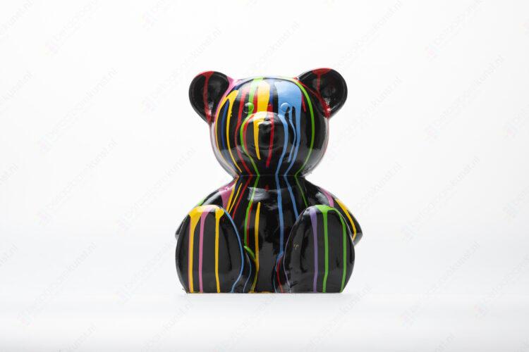"""Beeld """"Teddy Dripping Zwart"""""""