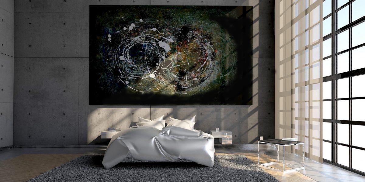 Schilderij orion in intereieur schilderij abstract