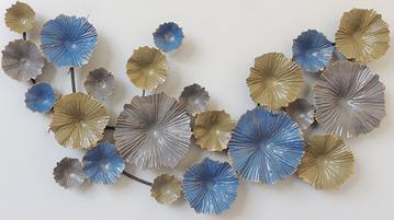 """Metalen wanddecoratie """"Blue rage"""""""