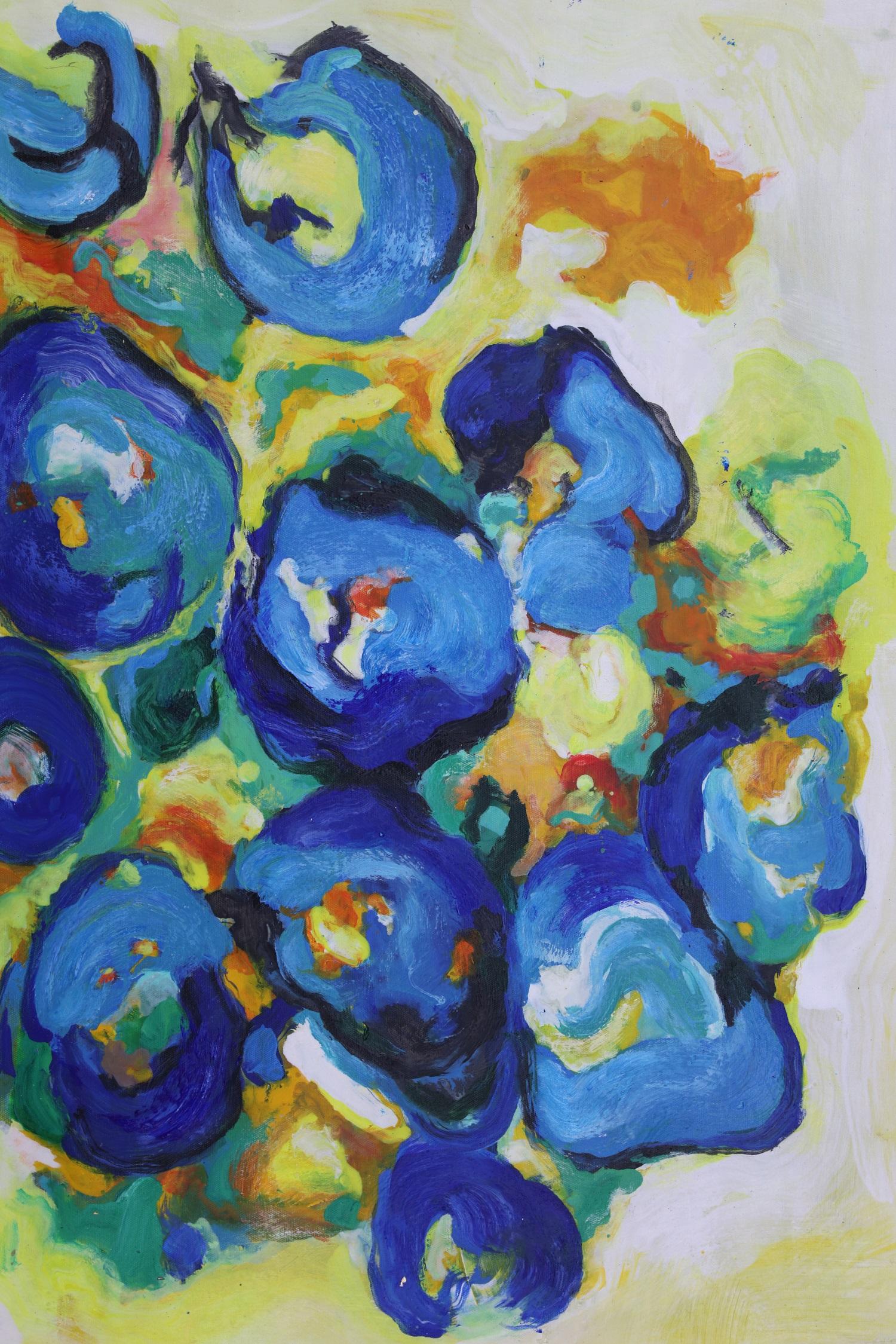 abstract schilderij hof