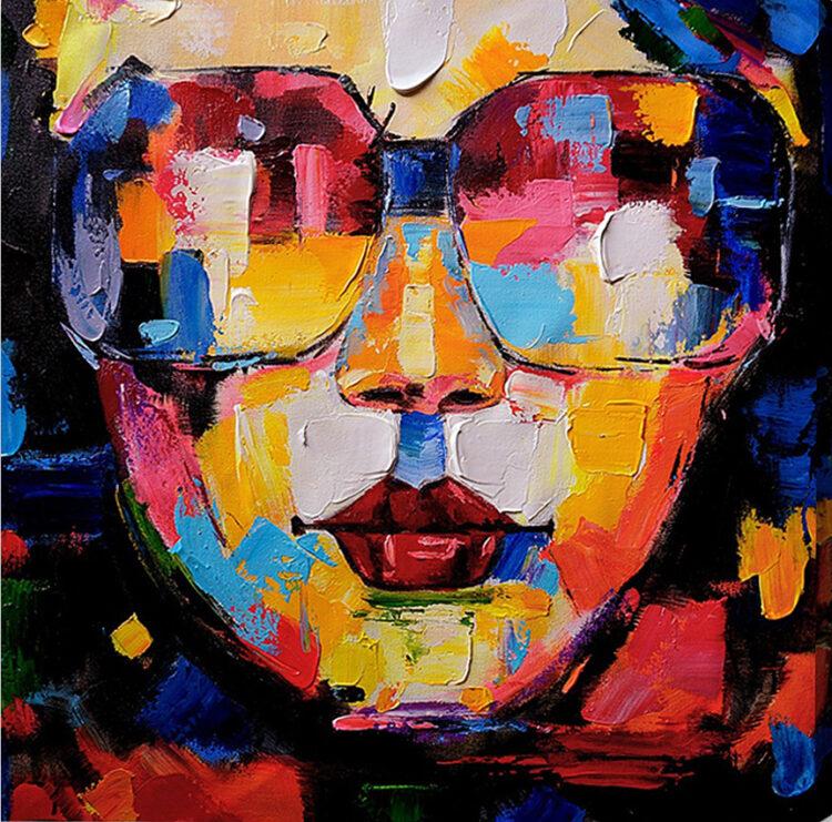 """Schilderij """"Zonnebrillen"""""""