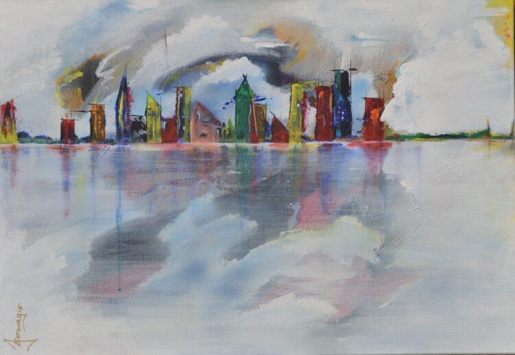 """Schilderij """"Justin Estourgie #408"""""""