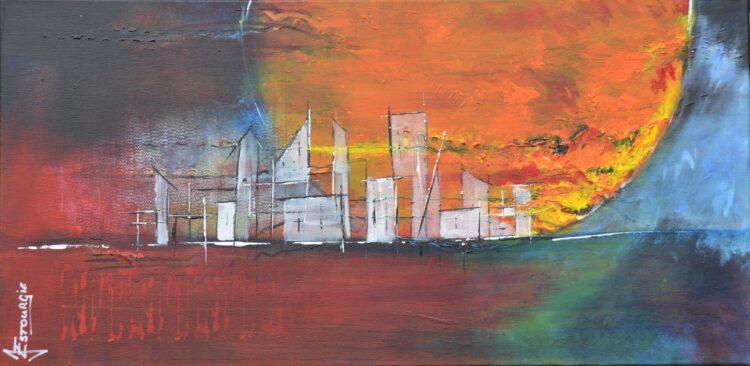 """Schilderij """"Justin Estourgie #450"""""""