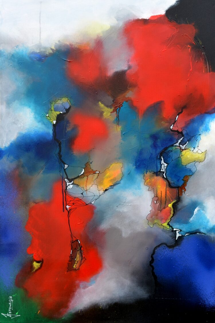 """Schilderij """"Justin Estourgie #483"""""""