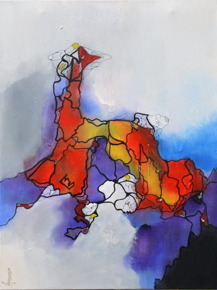 """Schilderij """"Justin Estourgie #485"""""""