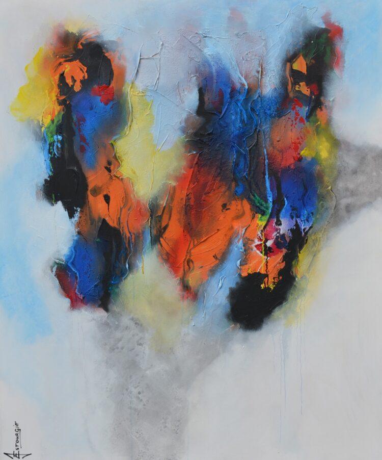 """Schilderij """"Justin Estourgie #486"""""""