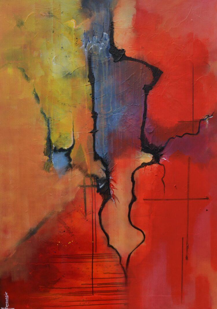 """Schilderij """"Justin Estourgie #488"""""""