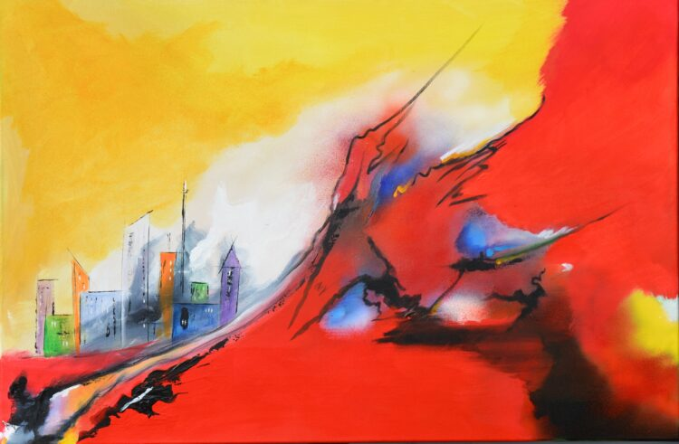 """Schilderij """"Justin Estourgie #501"""""""