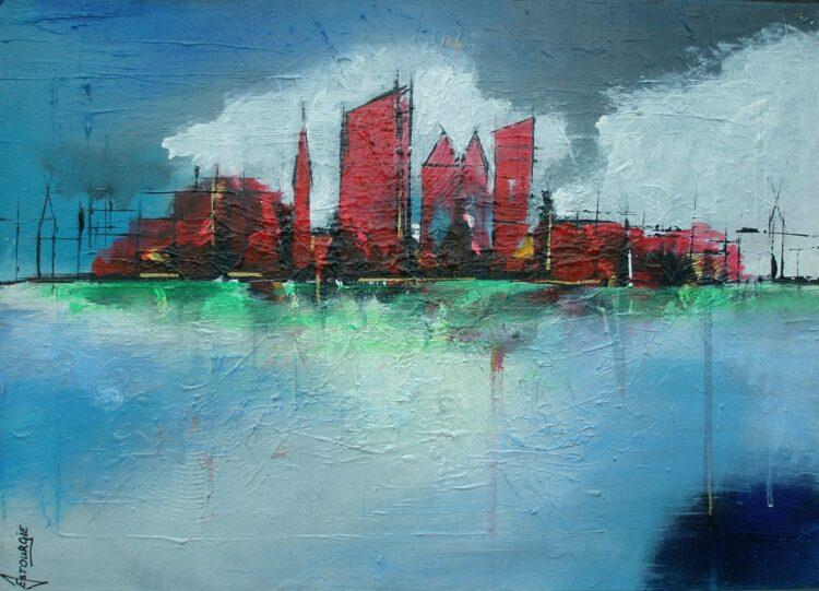 """Schilderij """"Justin Estourgie #458 Den Haag S"""""""