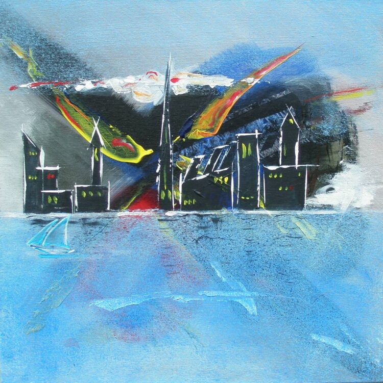 """Schilderij """"Justin Estourgie #398"""""""