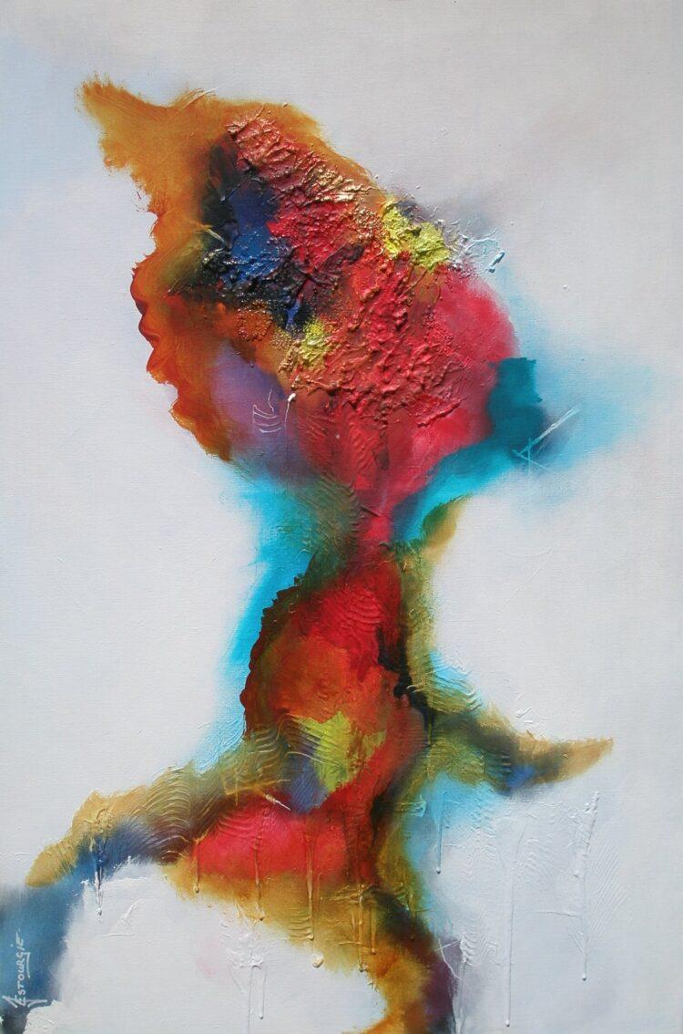 """Schilderij """"Justin Estourgie #417"""""""