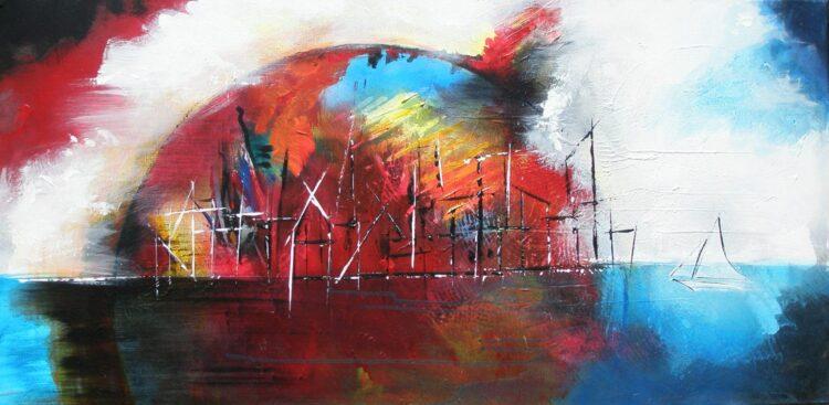 """Schilderij """"Justin Estourgie #428"""""""