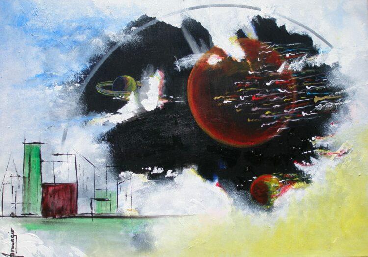 """Schilderij """"Justin Estourgie #462"""""""