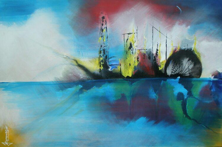 """Schilderij """"Justin Estourgie #504"""""""