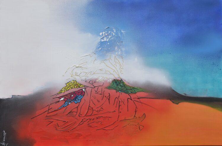 """Schilderij """"Justin Estourgie #998"""""""
