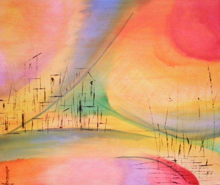 """Schilderij """"Justin Estourgie #812"""""""