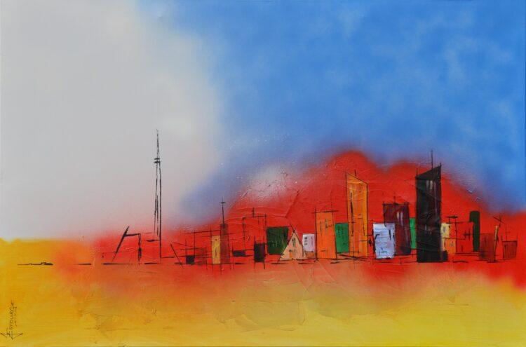 """Schilderij """"Justin Estourgie #902"""""""