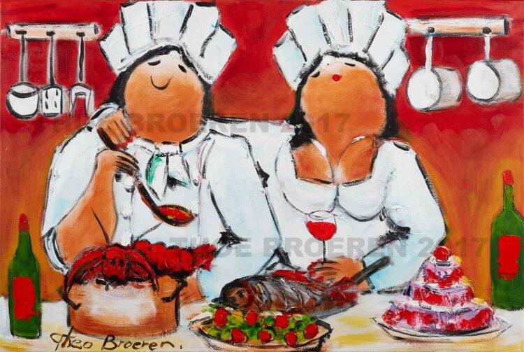 "Schilderij ""Haute cuisine"""