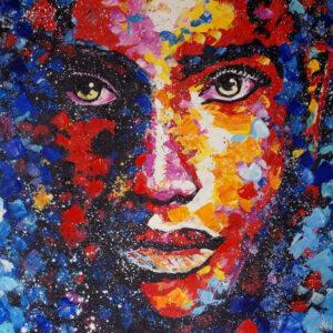Colorful Woman (landscape)