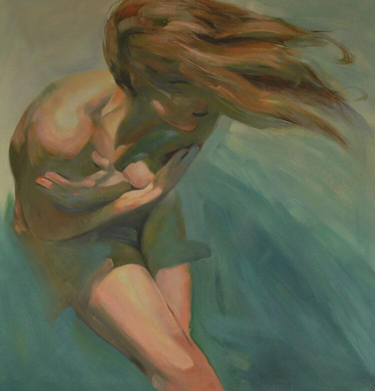 """Schilderij """"Gevangen door de wind"""""""