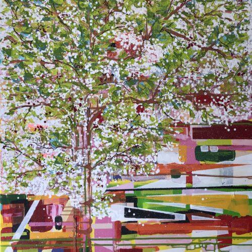 Zomerdag Anneke Swanink schilderij abstract