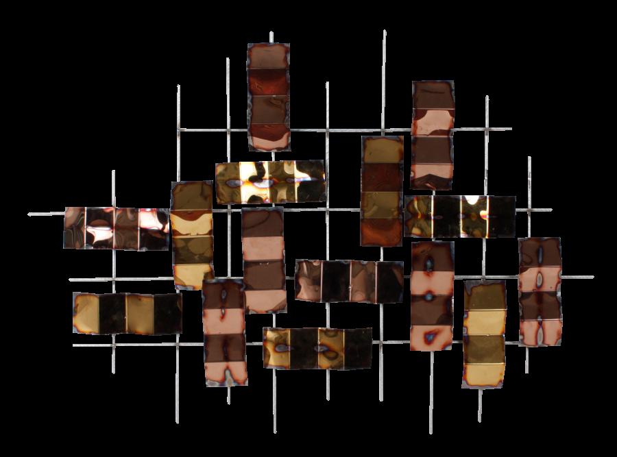 Metalen wanddecoratie Spigolo