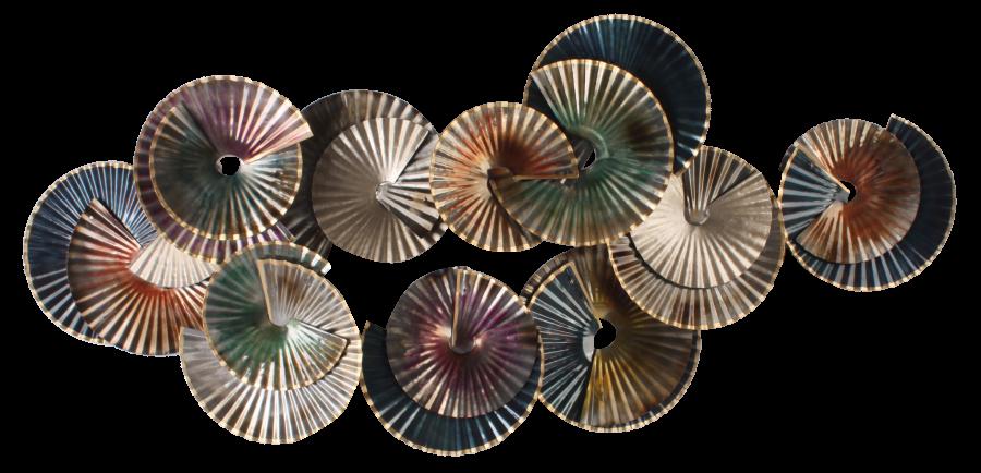 Metalen wanddecoratie Tondo