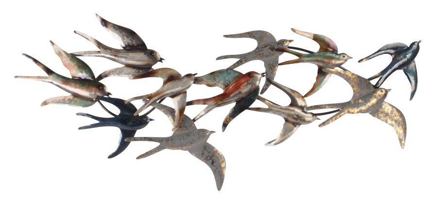 Metalen wanddecoratie Uccello