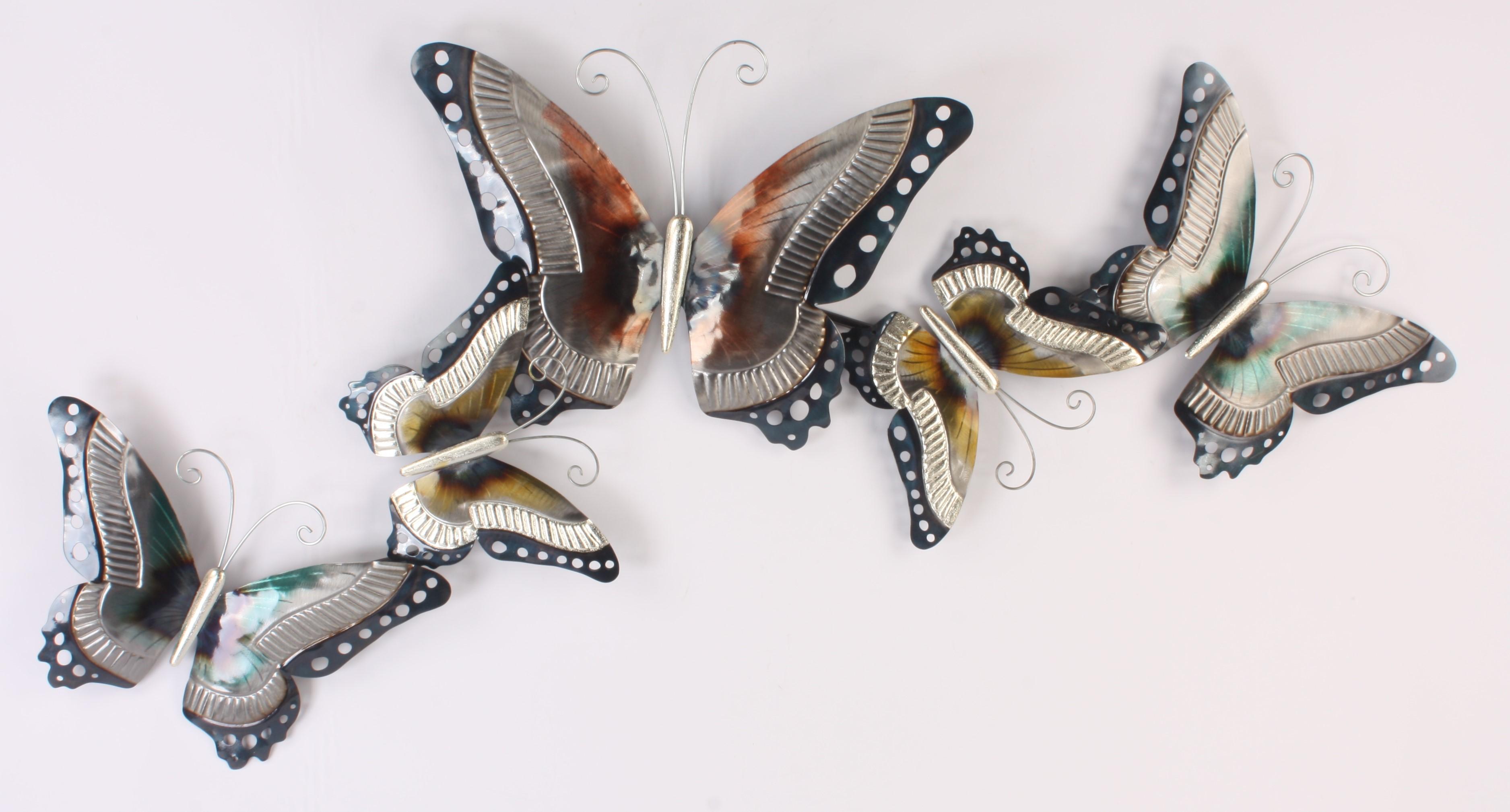 1407 Farfalla metalen wanddecoratie