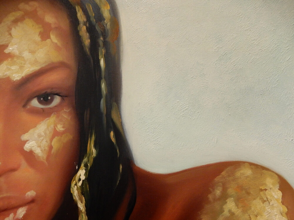 Balifa detail kunstwerk schilderij