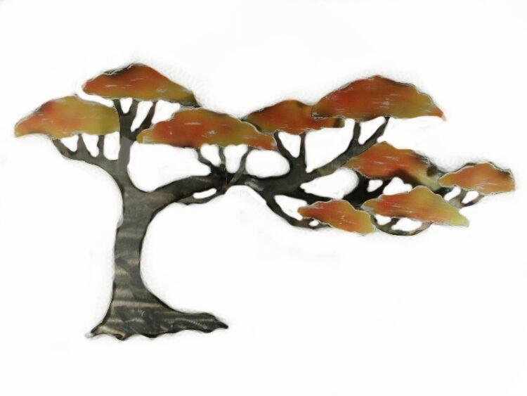 """Metalen wanddecoratie """"Afrikaanse boom"""""""