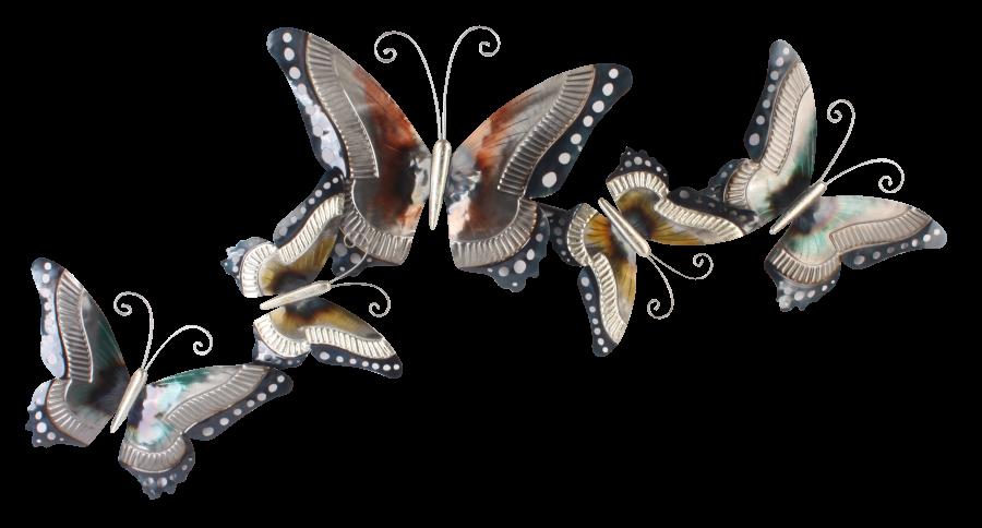 Metalen wanddecoratie Farfalla