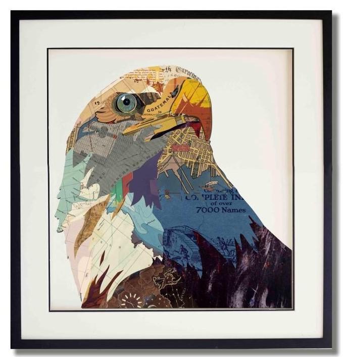 Paper art Eagle