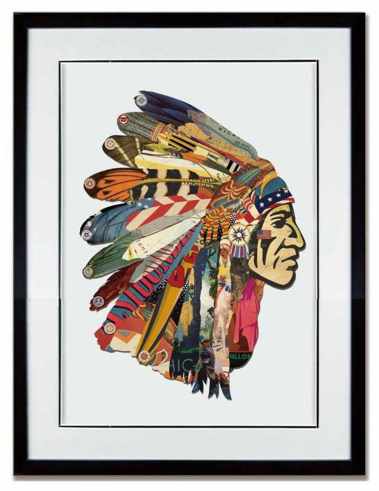 Paper art Indiaan