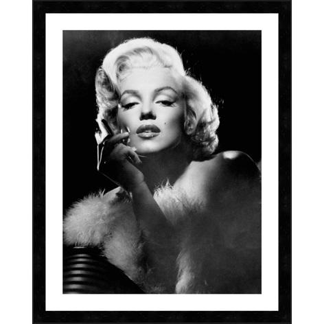 """Ingelijste poster """"Marilyn Monroe met sigaret"""" van Mondiart"""