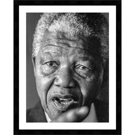 """Ingelijste poster """"Nelson Mandela"""" van Mondiart"""