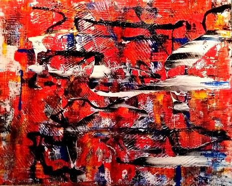 """Schilderij """"Fire Storm"""""""