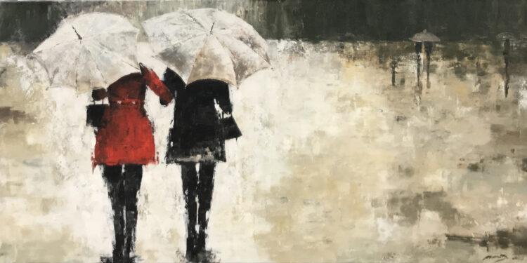 """Schilderij """"Regenbuitje"""""""