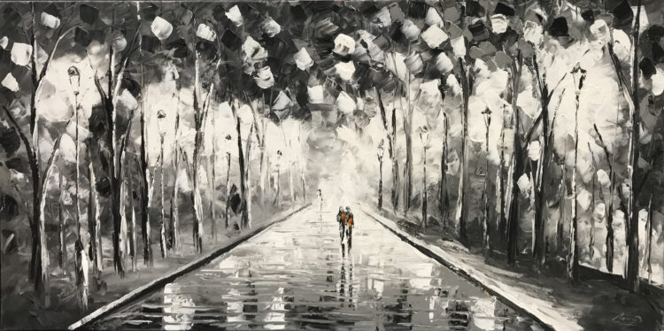 "Schilderij ""Walk in the parc"""