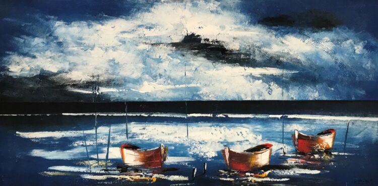 """Schilderij """"Vissersbootjes"""""""