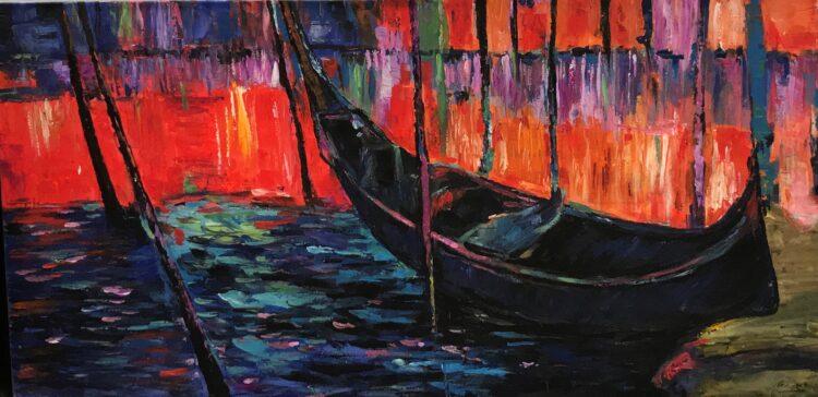 "Schilderij ""Gondola"""