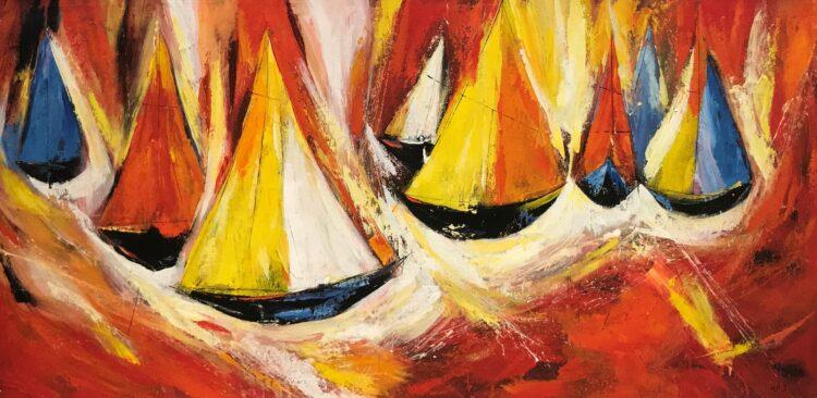 "Schilderij ""Sail"""