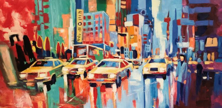 "Schilderij ""Yellow cab"""