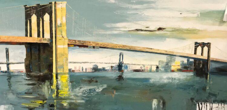 """Schilderij """"Brooklyn Bridge"""""""