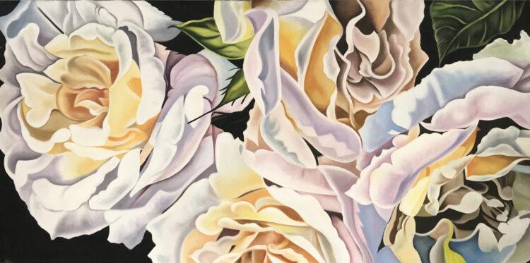 """Schilderij """"Witte bloemen"""""""
