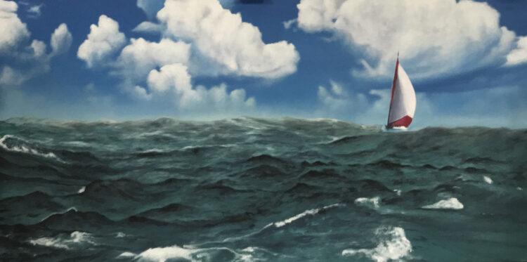 """Schilderij """"Windstilte na de storm"""""""