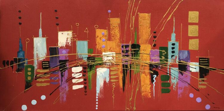 "Schilderij ""Skyline"""