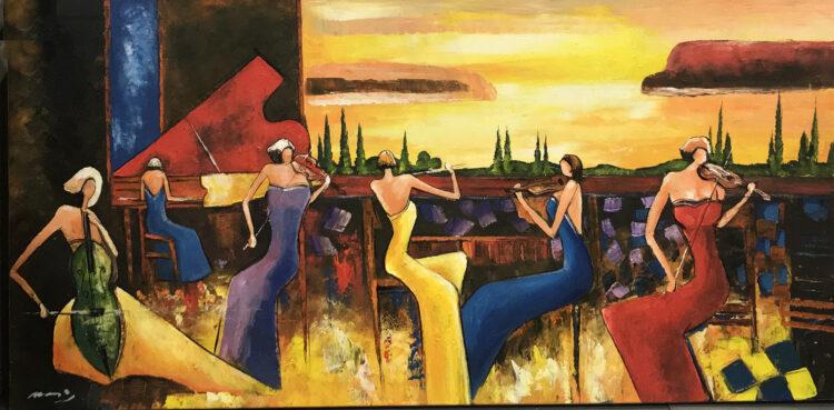 """Schilderij """"Ensemble"""""""